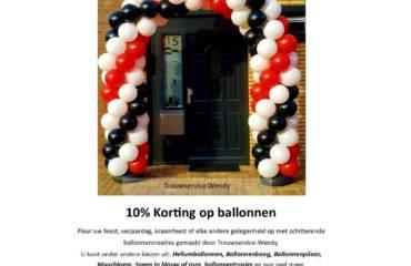 Maart Ballonnenmaand 10% Korting